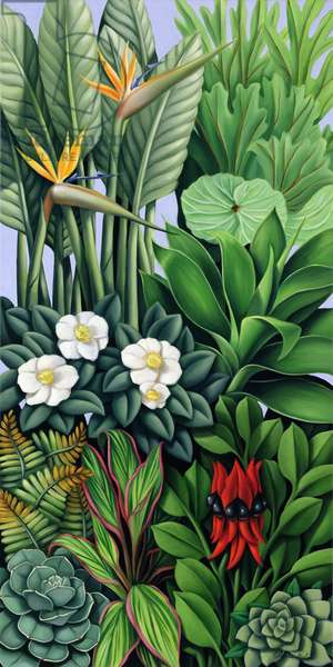 Foliage II (oil on canvas)
