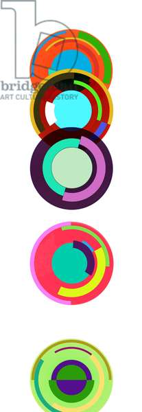 Totem (Tribute to Sonia Delaunay), 2015, screenprint on vinyl