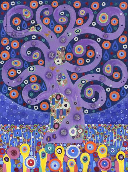 The Peacock Tree, 2011, (acrylic on canvas)