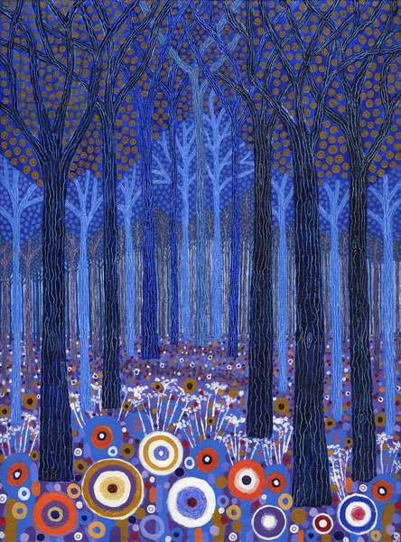 Blue Forest, 2011, (acrylic on canvas)