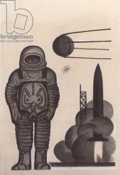 Cosmonaut, 1964 (gouache on paper)