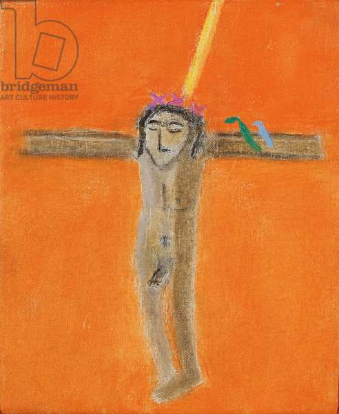 Crucifixion with Birds II, 2001 (oil on canvas)
