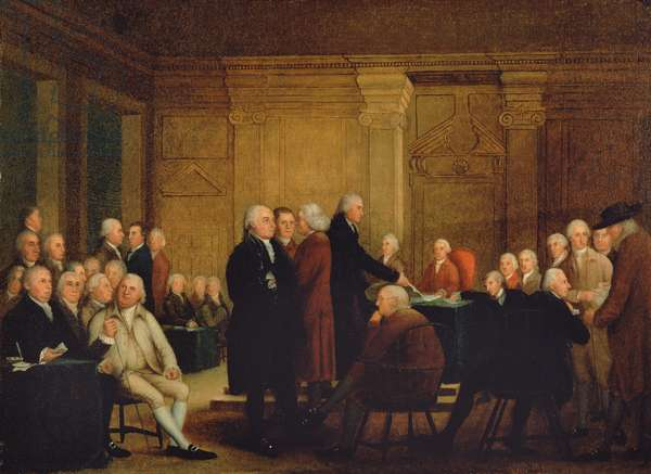 Congress Voting Independence, c.1795-1801 (oil on canvas)