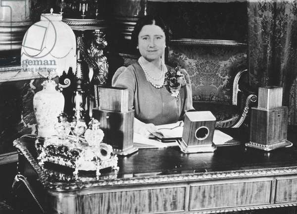 Queen Elizabeth during a radio broadcast