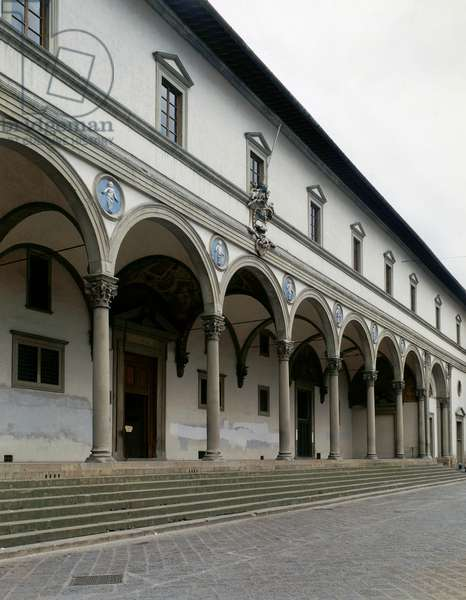The loggia of the Ospedale degli Innocenti, or Foundling Hospital, in Florence
