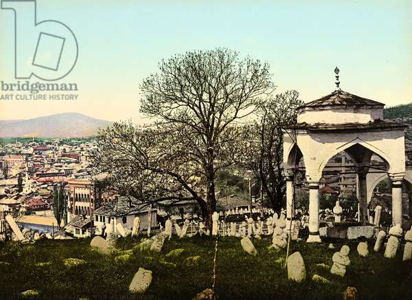 The Cemetery in the suburb of Alifakovac, Sarajevo during the Austro-Hungarian Empire, c.1900-10 (photo)