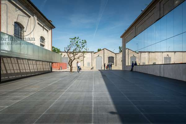 Exterior view of the Fondazione Prada Museum, Milan, Italy, 2015 (photo)