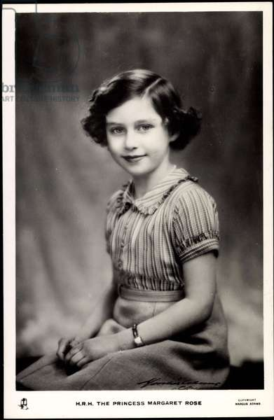 Ak H.R.H. The Princess Margaret Rose, Sister of Queen Elizabeth II  (b/w photo)