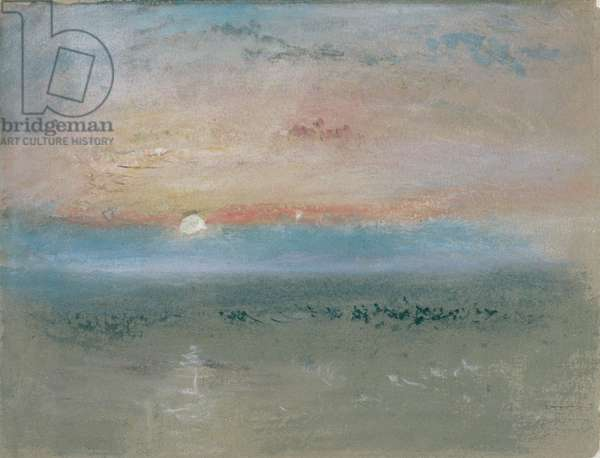 Sunset, c.1830 (w/c and gouache on grey paper)