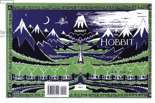 The Hobbit by J.R.R. Tolkien Book Cover, UK, 1960s