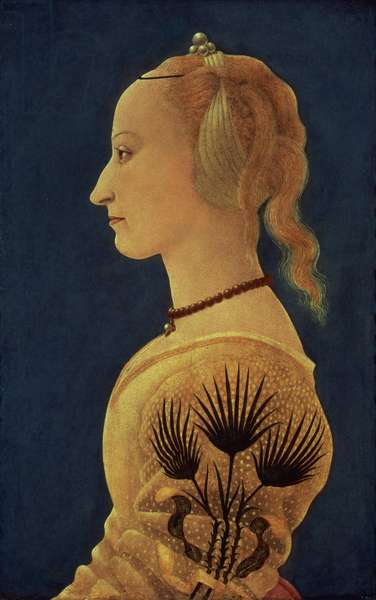 Portrait of a Lady in Yellow, c.1465 (panel)
