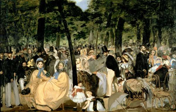 Music in the Tuileries Gardens, 1862 (oil on canvas)