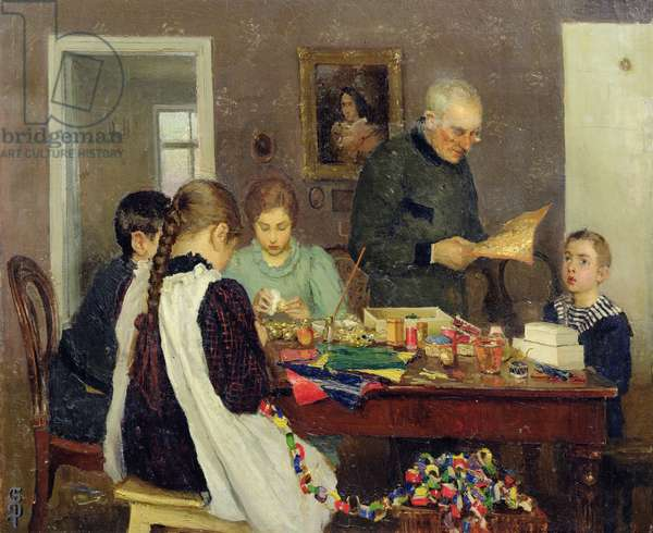 Preparation for Christmas, 1896 (oil on canvas)