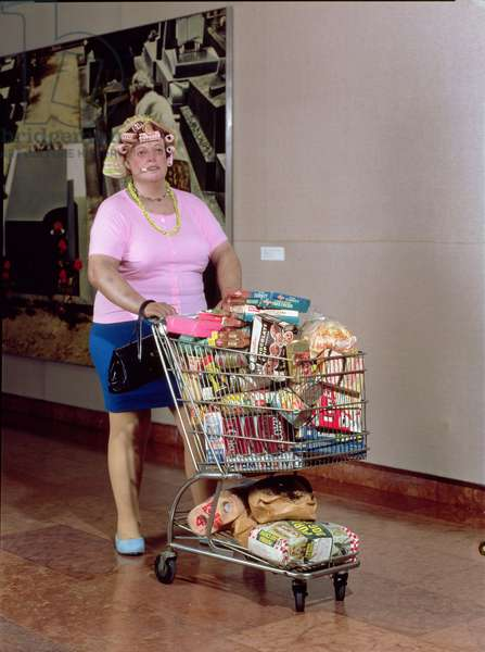 Supermarket Shopper, 1970 (polyester resin figure and various media)