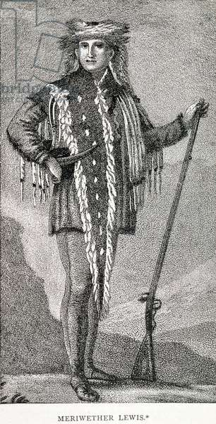 Portrait of Meriwether Lewis (1774-1809) engraved by Stuckland, published in the Analectic Magazine, 1815 (engraving)