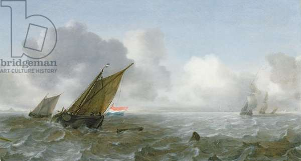 Shipping Offshore in a breeze, 17th century