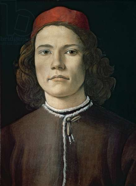 Portrait of a Young Man, c.1480-85 (tempera & oil on panel)