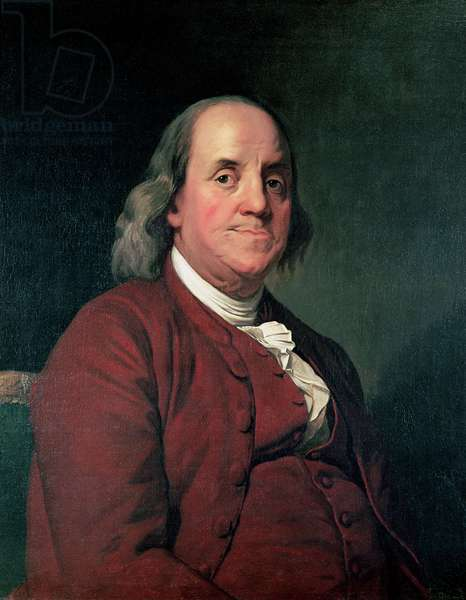 Benjamin Franklin, 1782 (oil on canvas)