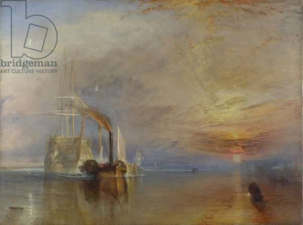 The Fighting Temeraire, 1839 (oil on canvas)