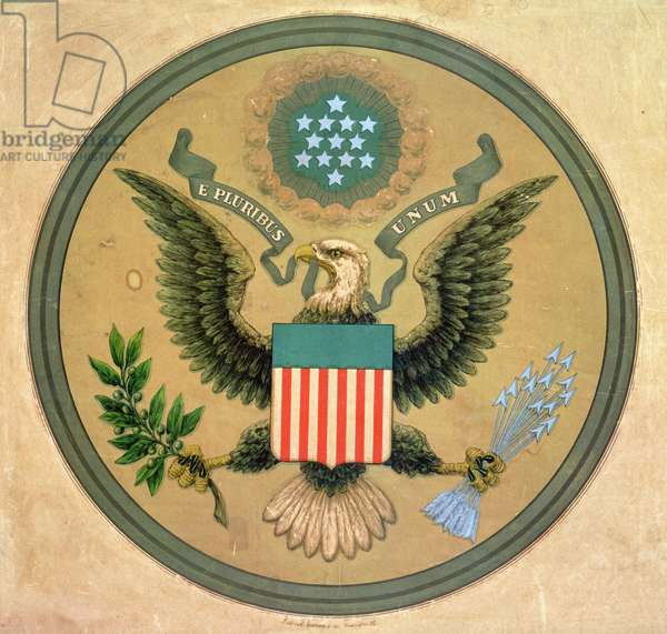 Great Seal of the United States, c.1850 (litho)