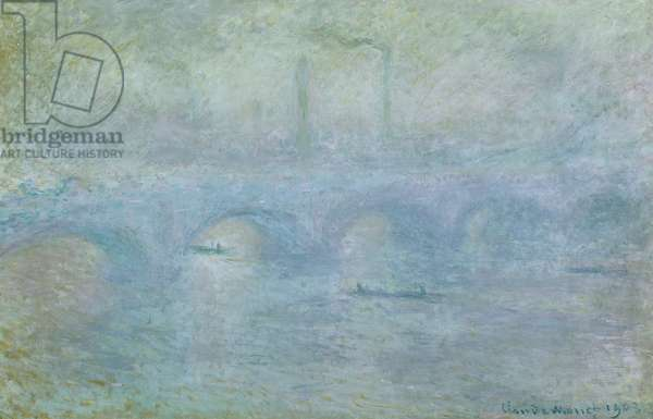 Waterloo Bridge, Effect of Fog, 1903 (oil on canvas)