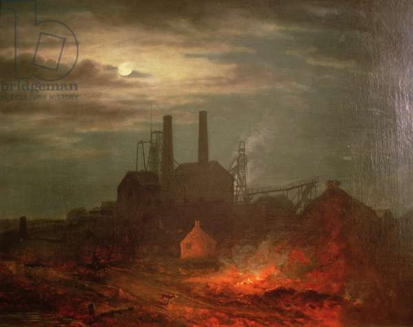 Old Hetton Colliery, Newcastle (oil on canvas)
