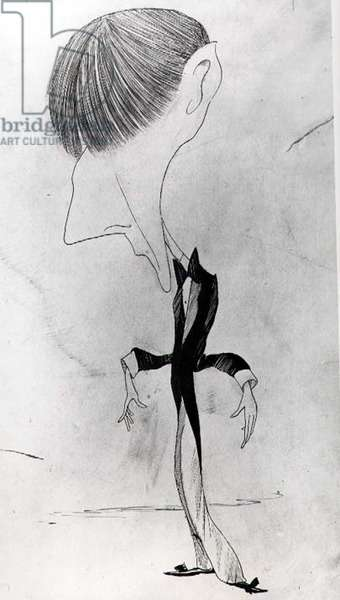 Caricature of Aubrey Beardsley (1872-98) for 'The Pall Mall Budget', 7th June 1894 (pen & ink on paper) (b&w photo)