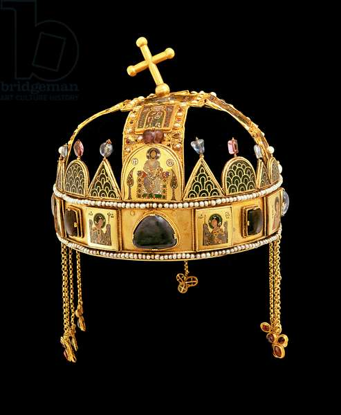 The Holy Crown of Hungary, 11th-12th century (gold with enamel, pearls & semi-precious stones)