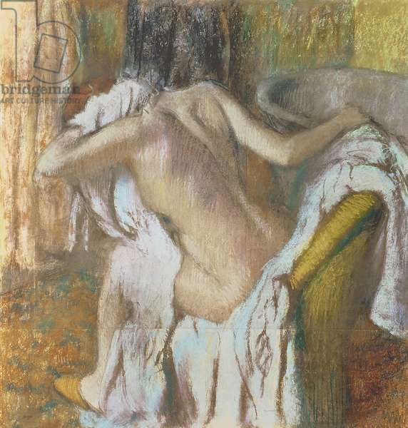 Woman drying herself, c.1888-92 (pastel)