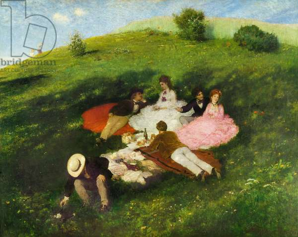 Picnic in May, 1873 (oil on canvas)