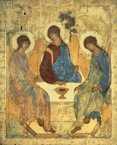 The Holy Trinity, 1420s (tempera on wood) (for copy see 40956)