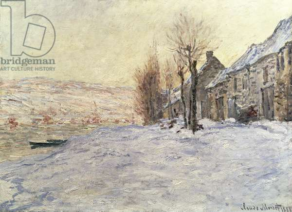 Lavacourt under Snow, c.1878-81 (oil on canvas)