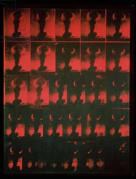 Atomic Bomb: Red Explosion, 1965 (silkscreen)