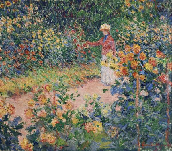 Garden at Giverny, 1895 (oil on canvas)