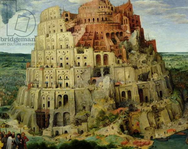 Tower of Babel, 1563 (oil on panel) (detail of 345)