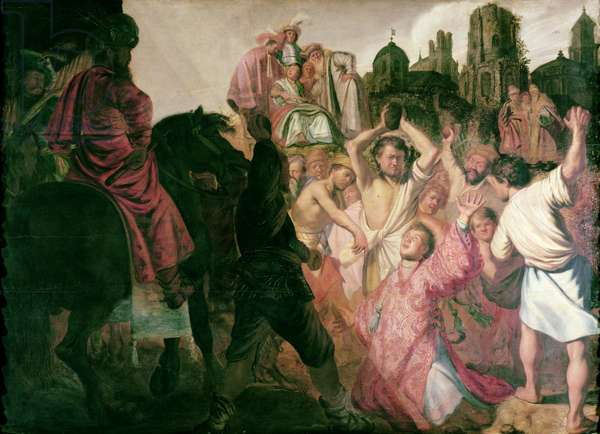 The Stoning of St. Stephen, 1625 (oil on panel)