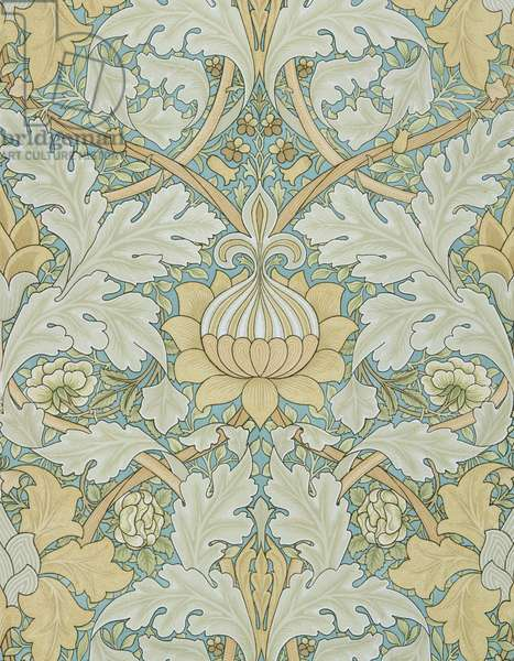 St James's wallpaper, design for St. James's Palace, 1881, manufactured by Morris and Co. Aymer Vallance for `The Art of William Morris`, pub. 1897