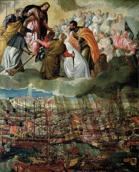 Allegory of the Battle of Lepanto, 7th October 1571 (oil on canvas)