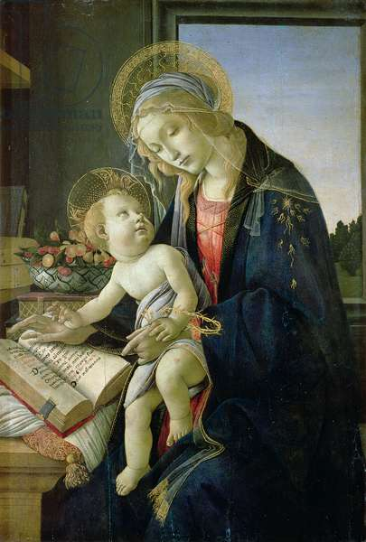 Madonna of the Book (Tempera and oil on wood panel) c. 1480-81