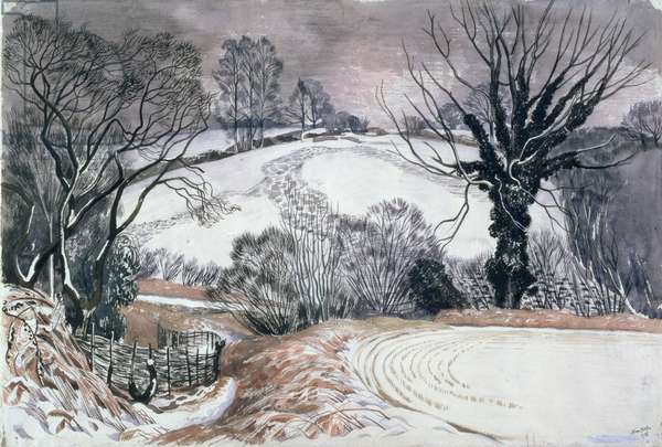 Winter Afternoon, 1945 (w/c on paper)