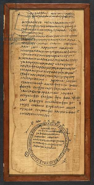 Greek handbook for Magic (ink on papyrus)