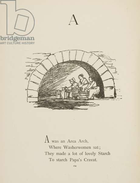 Archway Illustrations and verses from Nonsense Alphabets drawn and written by Edward Lear.
