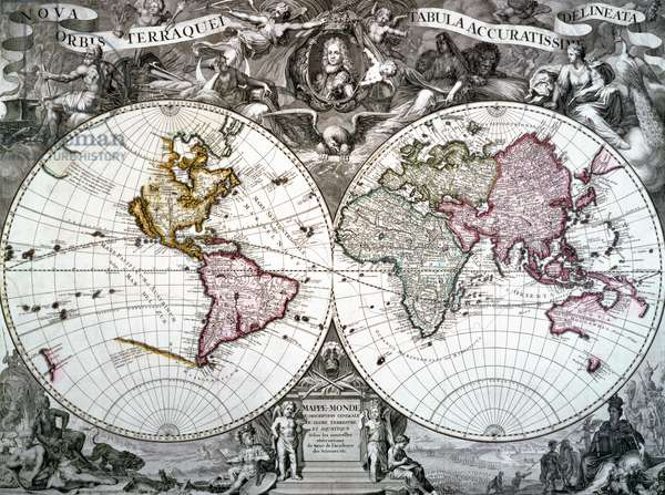 Map of the world, 1720 (engraving)