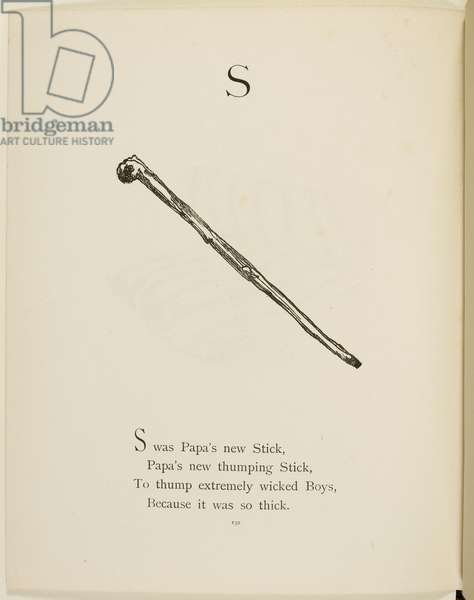 Stick Illustrations and verses from Nonsense Alphabets drawn and written by Edward Lear.