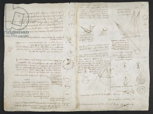 Arundel MS 263 f.104r Notebook ('The Codex Arundel') 1478-1518 (ink on paper)
