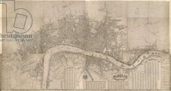 London, accurately surveyed by Wm Morgan, His Majesty Cosmographer, 1681 (engraving)
