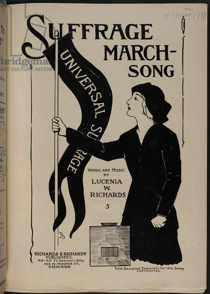 Music cover. A suffragette.