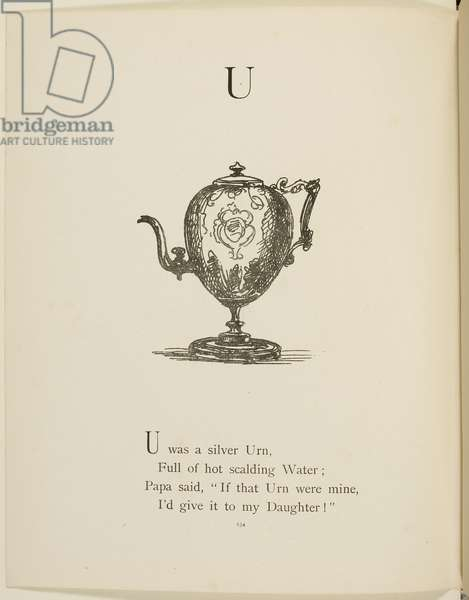 Urn Illustrations and verses from Nonsense Alphabets drawn and written by Edward Lear.