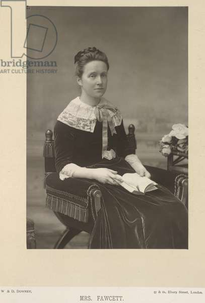 Dame Millicent Fawcett, née Garrett (1847-1929). English suffragette and educational reformer. Portrait.
