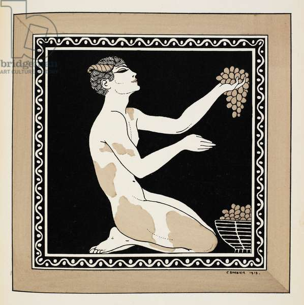 Nijinsky as a faun in the ballet L'après-midi d'un faune, that he choreographed for the Ballets Russes, and first performed in Paris in 1912. Nijinsky danced the main part himself.